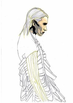 2015 Westminster Fashion illustration – Emily Marsh