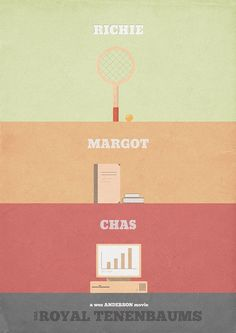 The Royal Tenenbaums - minimalist poster by H. Svanegaard, via Flickr