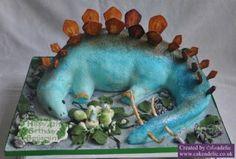 2011-10-09 Dinosaur Cake Dinosaur Birthday Cakes, Dinosaur Cake, Real Dinosaur, Dinosaur Stuffed Animal, Dino Cake, Party Ideas, Legs, Note, Ideas Party