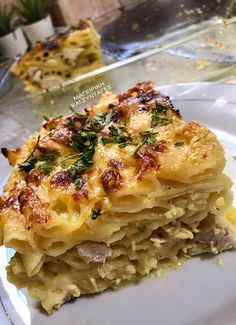 Greek Desserts, Greek Recipes, Cookbook Recipes, Cooking Recipes, Healthy Recipes, Lasagna, Macaroni And Cheese, Casserole, Food And Drink