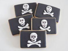 Galletas decoradas de bandera pirata