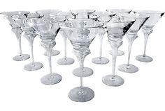 Czech Crystal Martini Glasses, Set of 12  $299.00