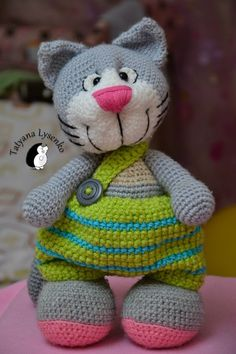 Crochet PATTERN HAPPY CAT by magicfilament on Etsy