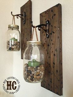 Mason Jar Wall Lanterns