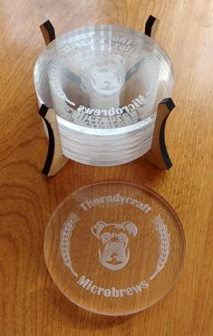 Beta Project: Coasters for a home-brewer - Project Inspiration - Glowforge Owners Forum Laser Cutter Ideas, Laser Cutter Projects, Cnc Projects, Trotec Laser, Lazer Cutter, Laser Cutter Engraver, Gravure Laser, Laser Machine, Laser Cut Acrylic