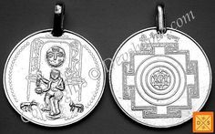 Lord Bhairav (Bhairavar) silver pendant for protection from tantra attacks and black magic