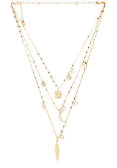 Melanie Auld Multi Circle Lariat Necklace in Metallic Gold GiZ7k