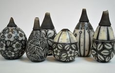 Raku Bottles 2015 Debbie Barber Ceramics  www.debbiebarber.co.uk