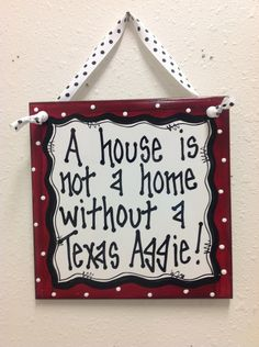 Texas Aggie Wall Decor Ceramic Tile Hand Painted. $11.99, via Etsy.