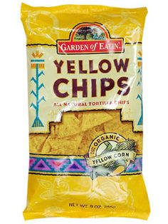 When Only Chips Will Do  Skip the regular potato chips and go for all-natural tortilla chips like Garden of Eatin' Baked Yellow Tortilla Chips. One ounce (19 chips) provides 3 grams of fibre as well as 300 milligrams of heart-healthy omega-3s, says Ansel. Want even more fiber? Eat it with 1/2 cup cooked black beans for an additional 6 grams.
