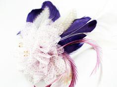 Haarschmuck & Kopfputz - Lavendel Flieder Seide Brautschmuck Fascinator - ein Designerstück von billies bei DaWanda