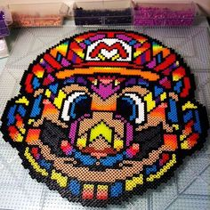 Super Mario perler beads (from a Van Orton Design) by  perlermom