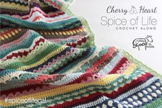 I'm so excited to launch a brand new Cherry Heart Crochet Along for the Spice of Life Blanket, together with Black Sheep Wool.