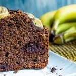 Plum cake farro monococco al doppio cioccolato e banana