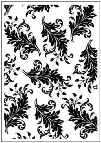 ****  LEAVES ~ embossing folder Crafts Too