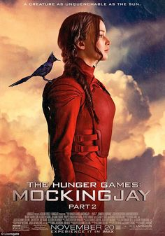 Katniss is back: Jennifer is seen in a new poster for The Hunger Games: Mockingjay Part 2 which is released on November 20