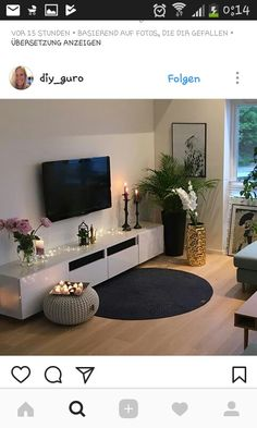 Tv area – – – Pinmenzilyolu – From Parts Unknown New Living Room, Home And Living, Living Room Decor, Bedroom Decor, Apartment Living, Room Inspiration, Living Room Designs, House Design, Interior Design
