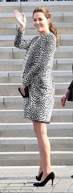 Royal wave: The Duchess waves to crowds...Question: Didn't she wear this during her last pregnancy? (I ask not in a in a judging way just wondering)