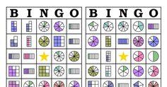 BINGO DE FRAÇÕES EM WORD Fractions, Teaching Math, Worksheets, Classroom, Games, School, Blog, Fraction Games, School Games