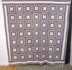 Pre Civil War 1840s Chimney Sweep Antique Quilt Purple 84 x 82 Fine Quilting | eBay