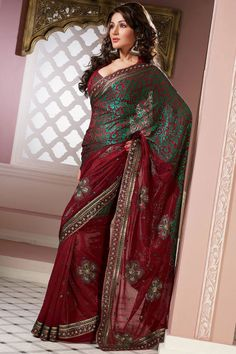 Red Saree for newly married 682x1024