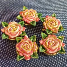 Rose Button Covers Set of 5 Rose Button Covers - Gently Used Accessories