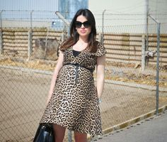 Animal Print Dress. Pregnant Style.