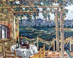 marble mosaic art   Nature Handmade Mosaic Tiles Stone Art Wall Mural   eBay