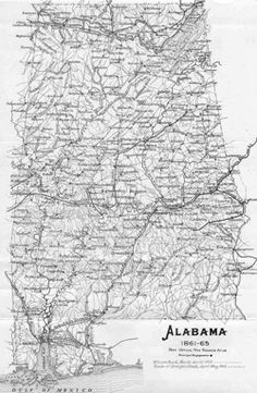 Alabama Civil War Maps - Find out where your Ancestors came from! - Display all your tree on your own #Genealogy Website, check it out!