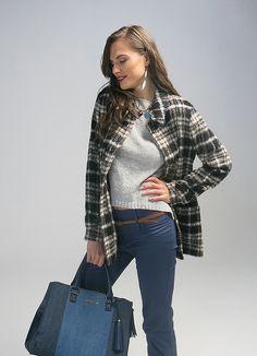 Winter outfit | invierno | Conoce más tendencias en http://www.larcomar.com/blog | #denim #winter2016 #coat