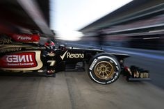 Kimi heads out on track in Barcelona