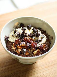 Porridge quinoa choco coco