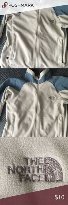 NORTH FACE JACKET Lightly used light blue and cream North Face jacket North Face Jackets & Coats