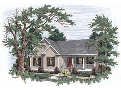 Country House Plan with 1806 Square Feet and 3 Bedrooms from Dream Home Source | House Plan Code DHSW46938