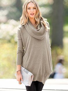 The Multi-way Sweater. Victorias Secret. Feather Heather. Medium