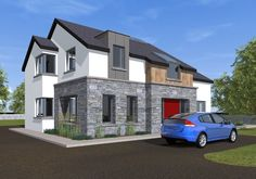 Two Storey Dormer Dwelling House – Modern Bungalow Exterior, Bungalow House Design, Modern Farmhouse Exterior, Modern House Design, Modern Houses, House Extension Ireland, House Designs Ireland, Dormer House, My House Plans