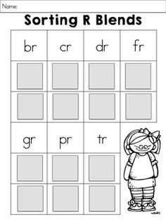 Sorting R Blends from the R BLENDS WORD WORK MEGA BUNDLE >> Fun, interactive, and hands on activities for learning to read with r blends. $
