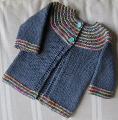 Ravelry: autumn sunset, # Knitting , lace processing is essentially t. Kids Knitting Patterns, Baby Sweater Patterns, Baby Cardigan Knitting Pattern, Knit Baby Sweaters, Knitting For Kids, Baby Patterns, Ravelry, Pull Bebe, Quick Knits