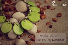 #ceramics #handmade #bluepottery #jewelry #fashionjewelry Shop the collection now at https://www.neerja.com/category/jewellery/necklace