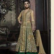 Flamboyant green bridal lehenga