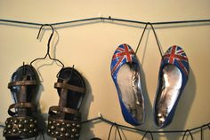 cheap and easy shoe hangers