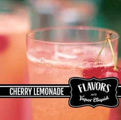 Cherry Lemonade Eliquid Our Cherry Lemonade E-Liquid is one of top sellers at the Vapor Hub as well as online orders. Our Cherry Lemonade E-Liquid is an awesome blend of a lemonade base, with a good hint of cherry to give you the best of both worlds!