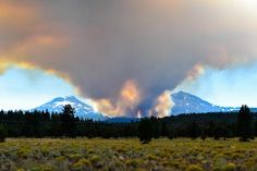 Pole Creek Fire - Three Sisters Mountains - Sisters, Oregon - September 2012