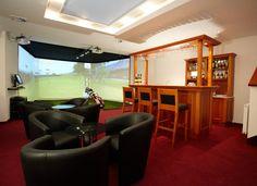 Man Caves. Indoor Golf Simulators, Indoor/Outdoor Turf, Putting Greens, Racing Simulators, Sports Simulators www.indoorgolfdesign.com