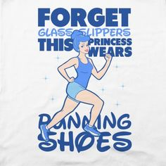 Forget Glass Slippers this Princess Wears Running Shoes T-Shirts Disney Workout, Run Disney, Nike Id, Workout Tanks, Workout Gear, Snapchat, Princess Shoes, Disney Princess, Fit Couples