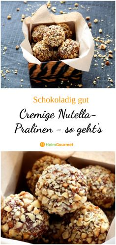 NUTELLA PRALINES explained in simple steps!-NUTELLA-PRALINEN in einfach Schritten erklärt! A real must for Nutella fans: creamy chocolates with a delicately melting chocolate cream. Easy Smoothie Recipes, Easy Smoothies, Snack Recipes, Snacks, Summer Desserts, Holiday Desserts, Pumpkin Spice Cupcakes, Cinnamon Cream Cheeses, Coconut Recipes