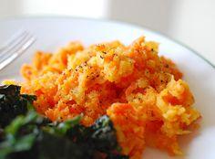Purée de carottes, curcuma et lait de coco