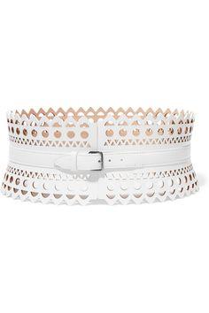 Alaïa Vienne laser-cut leather waist belt