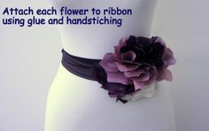 Ruby Mines: DIY Tutorial: Nina Ricci Inspired Flower Sash
