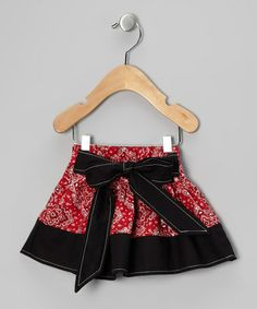 Take a look at this Western Border Red Bandana Skirt - Infant, Toddler & Girls by Western Border on #zulily today!